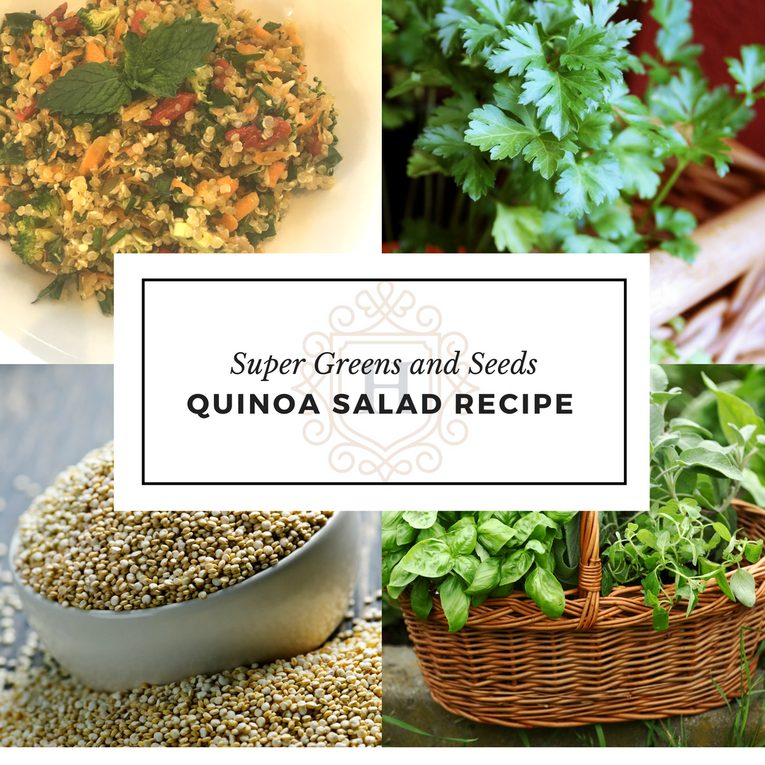 Super Greens and Seeds Quinoa Salad Recipe